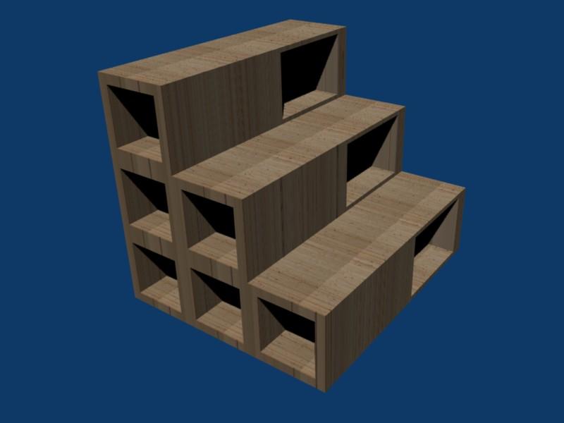 escalier cube de rangement. Black Bedroom Furniture Sets. Home Design Ideas